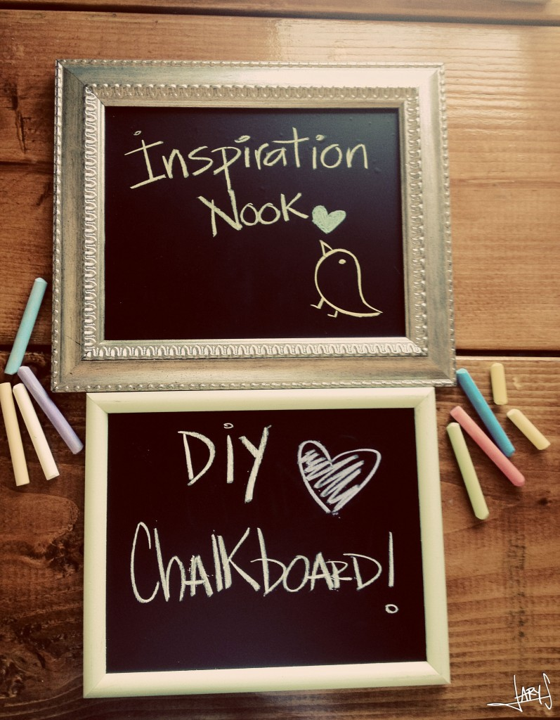 have you made your own chalkboard frames