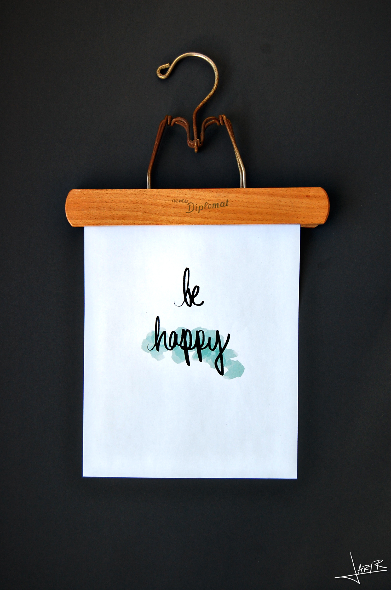 WatercolorPrint_BeHappy