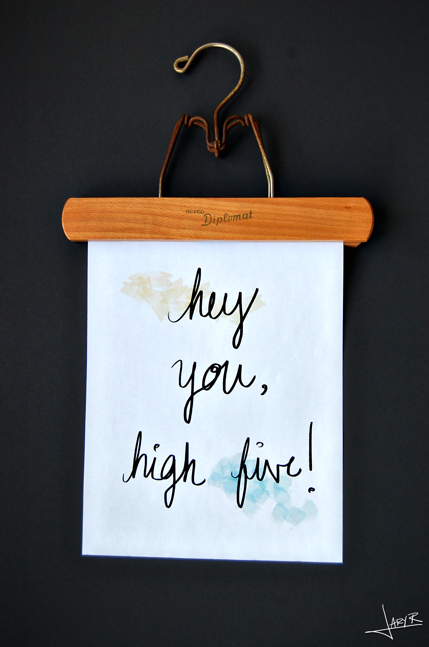WatercolorPrint_HighFive