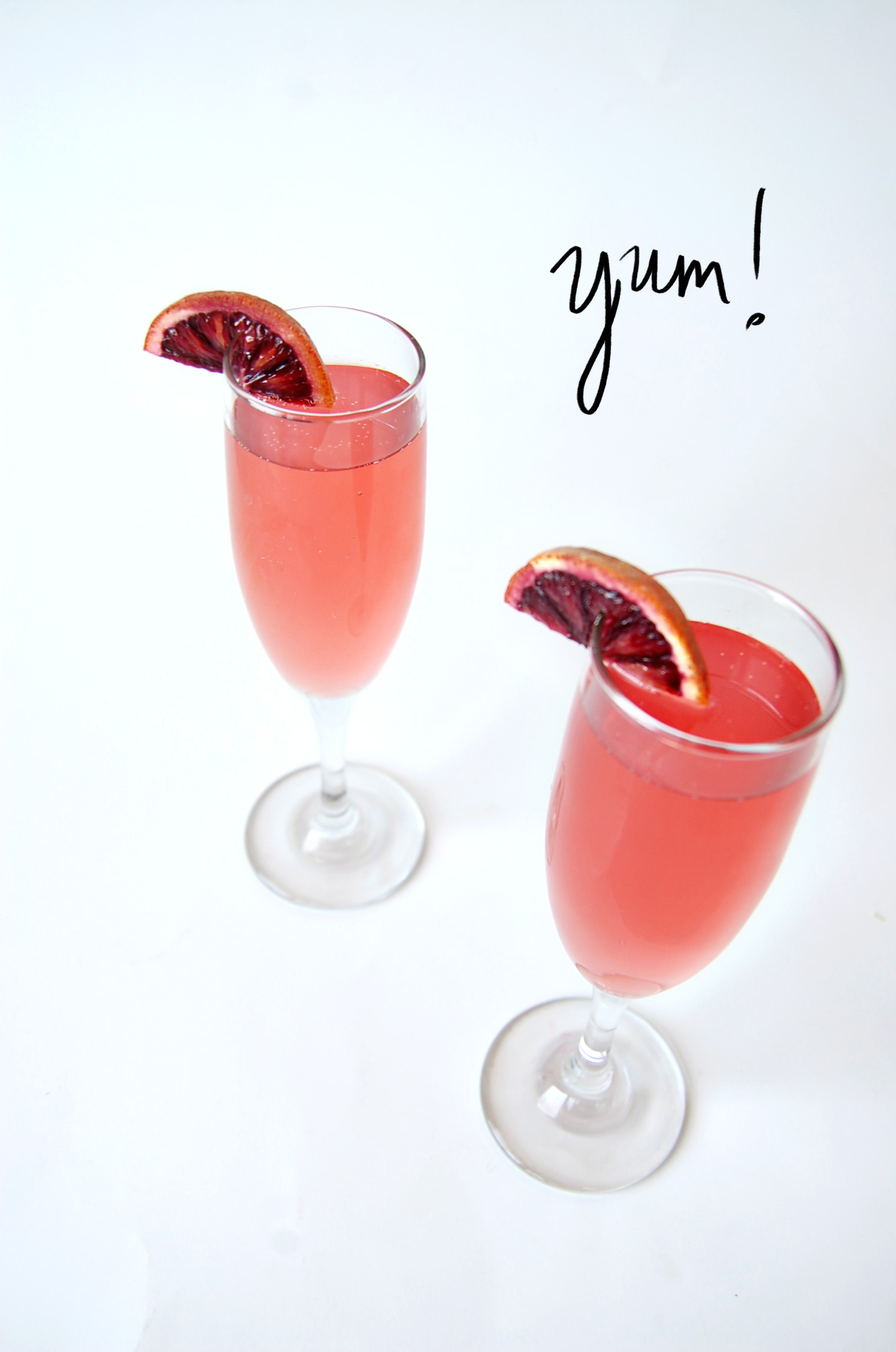 Boozy Brunch Blood Orange Mimosa