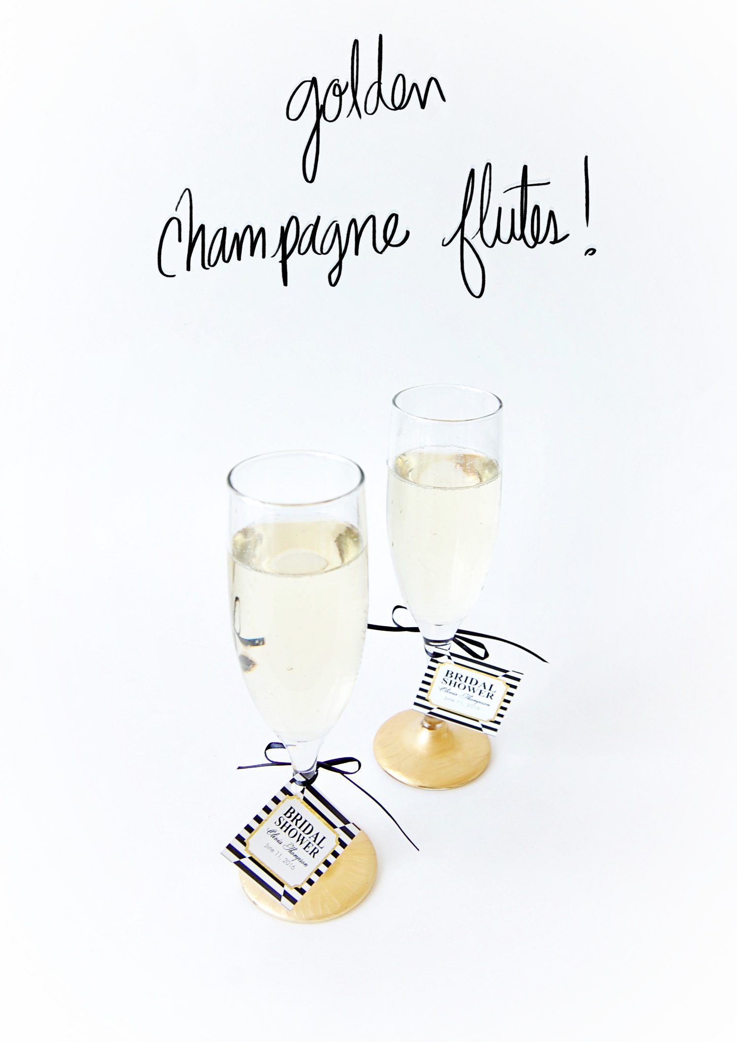 City Chic Gold Flutes DIY