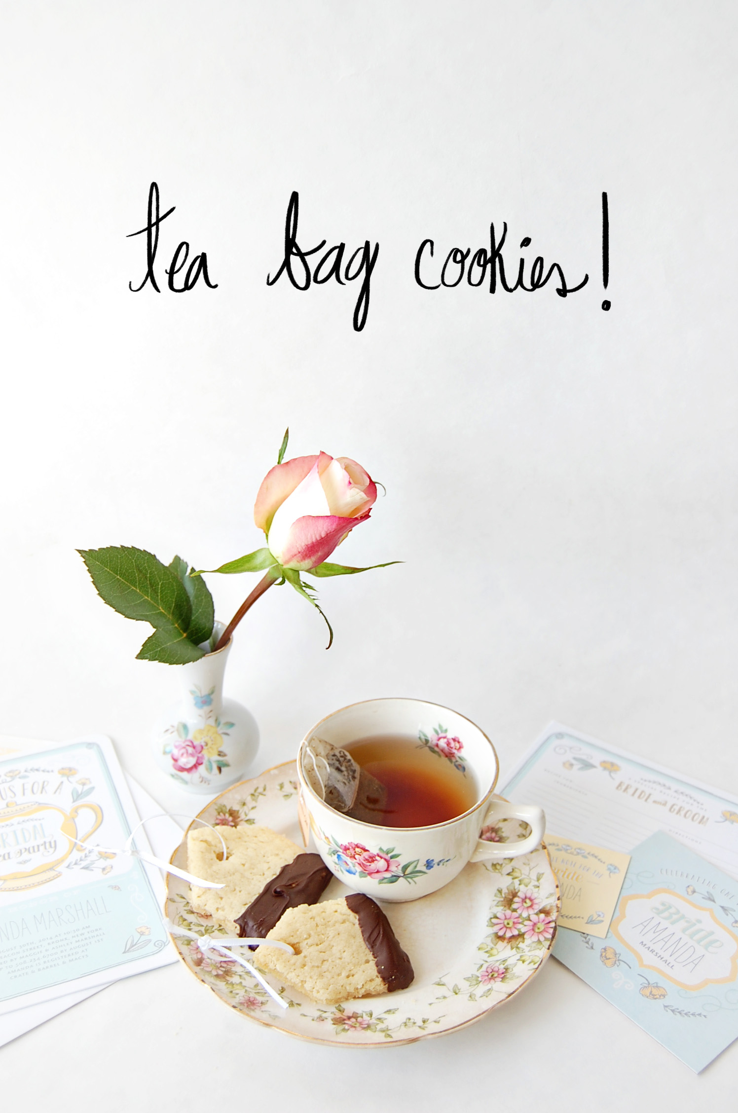 Tea Party Tea Bag Cookie DIY