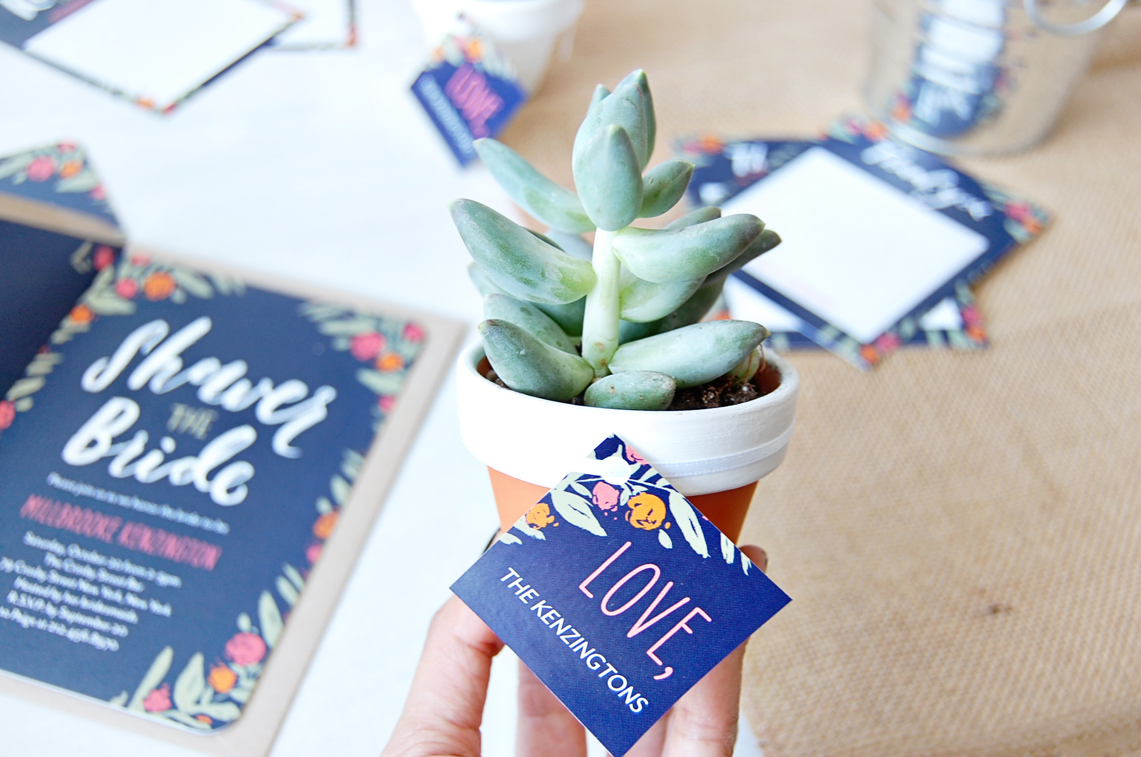 Succulent Favors DIY
