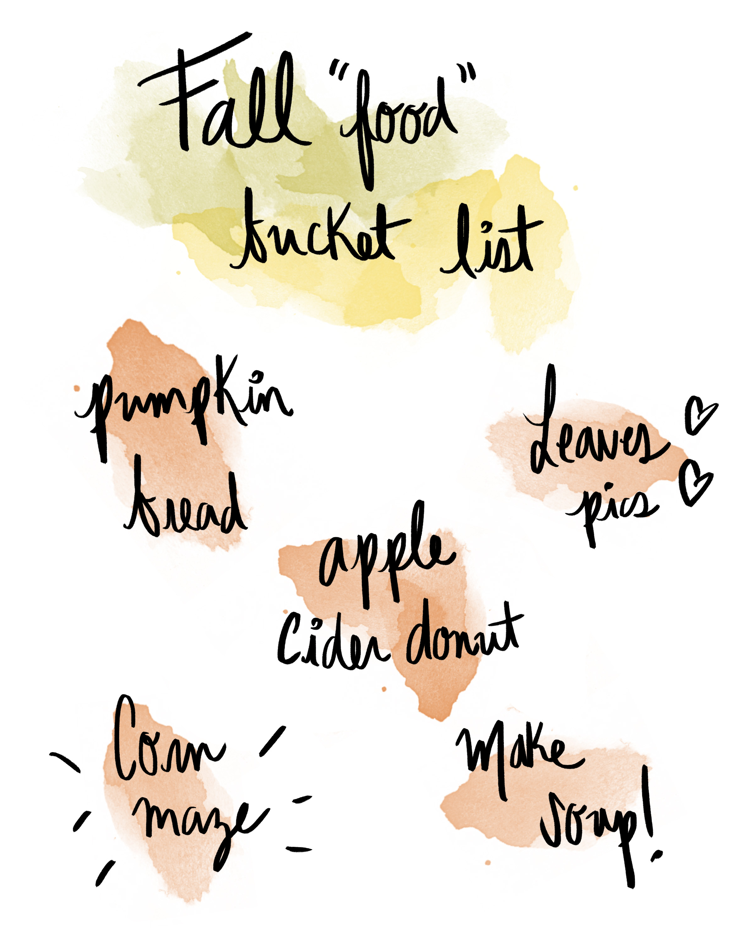 Fall Food Bucket List